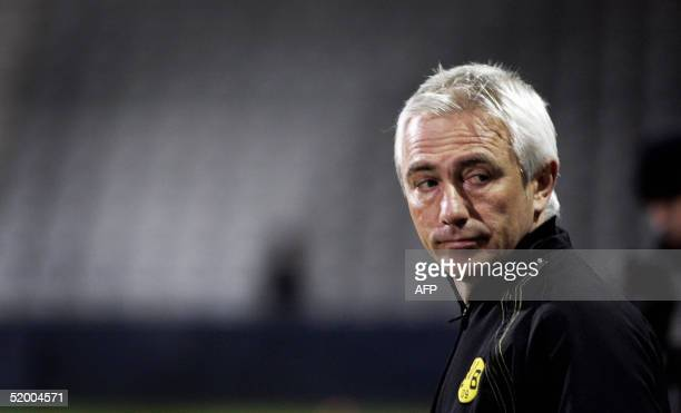 Borussia's coach Bert van Marwijk is picture prior to the match De Graafschap against Borussia Dortmund in Doetinchem 17 January 2005 The proceeds...
