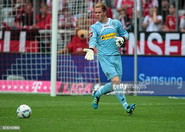 Borussia-Torwart Marc-Andre Ter Stegen reagiert beim Bundesliga Spiel zwischen dem FC Bayern Muenchen und Borussia Moenchengladbach am in der...