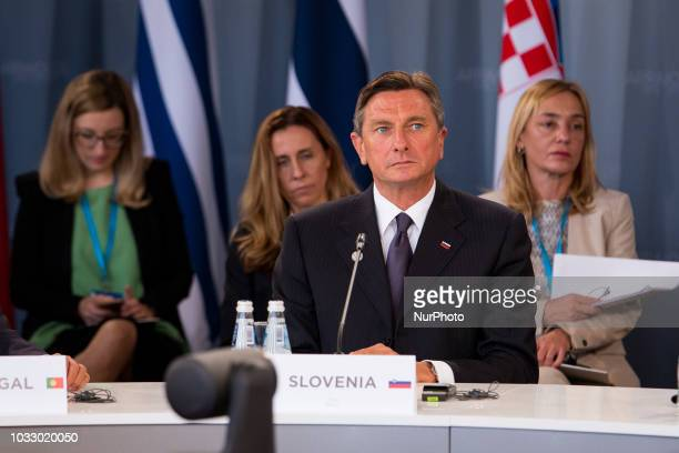 Borut Pahor during the 14th informal meeting of the Arraiolos Group at Rundale Palace in Rundale Latvia on 13 September 2018 The Arraiolos Group...