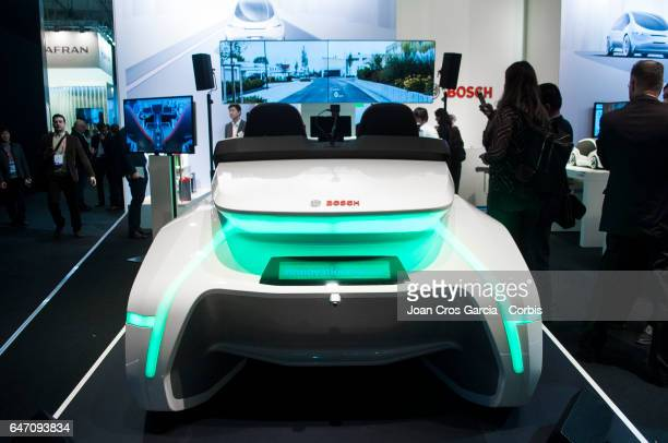 Bosch electric car prototype exhibited during the Mobile World Congress on March 1 2017 in Barcelona Spain