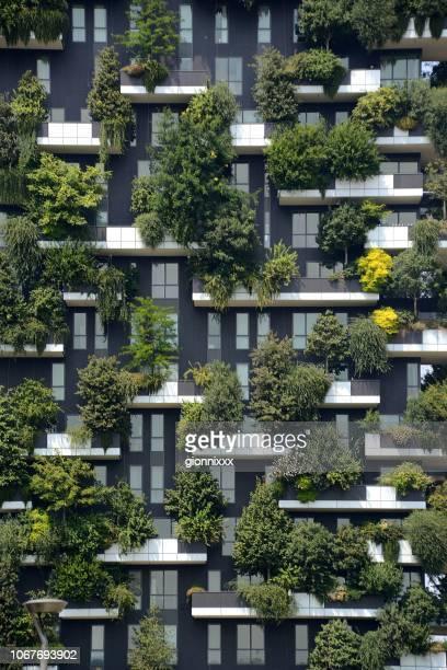 bosco verticale apartments, milano - bosco verticale milano foto e immagini stock