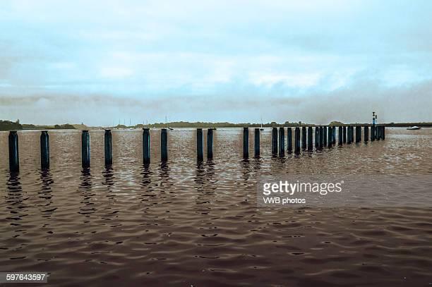 Bosham Pier and stormy sky, Bosham, East Sussex