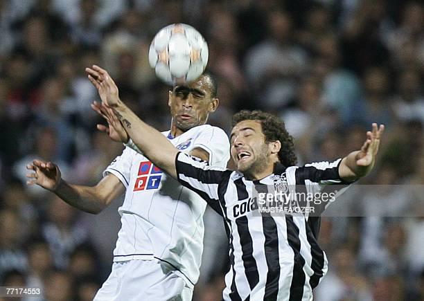 Bosingwa of FC Porto vies with Frederico Higuain of Besiktas during their UEFA Champions League group A match at Inonu Stadium in Istanbul Turkey 03...