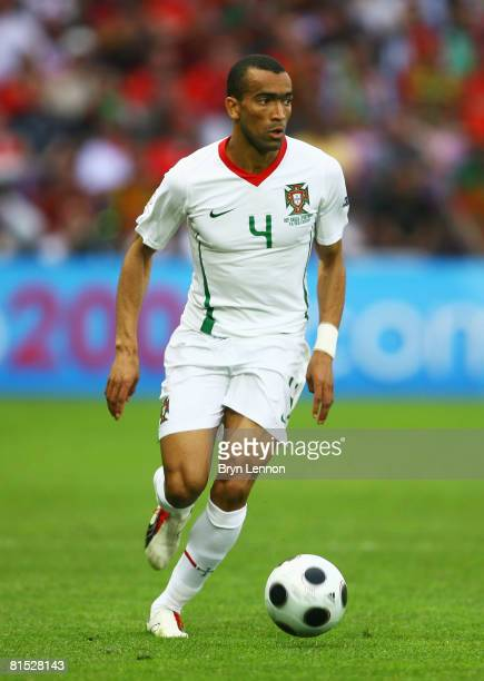 Bosingwa of Portugal runs with the ball during the UEFA EURO 2008 Group A match between Czech Republic and Portugal at Stade de Geneve on June 11,...