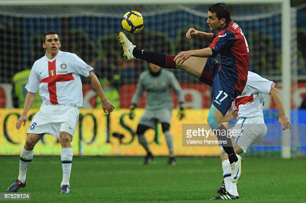 Bosko Jankovic of Genoa CFC in action during the Serie A match between FC Internazionale Milano and Genoa CFC at Stadio Giuseppe Meazza on March 7...
