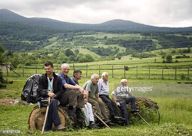 bosnia ed erzegovina, un gruppo di contadini - agricultural occupation stock pictures, royalty-free photos & images