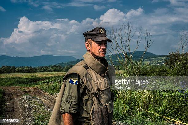 Bosnia and Herzegovina army serviceman who works as a deminer.