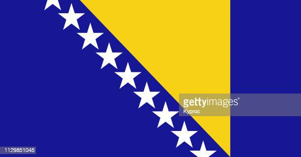 bosnia and herzegovina flag - bosnia and hercegovina stock pictures, royalty-free photos & images