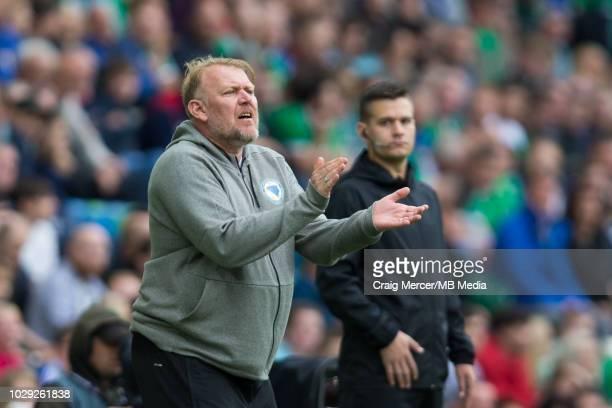 Bosnia and Herzegovina Head Coach Robert Prosinecki during the UEFA Nations League B group three match between Northern Ireland and...