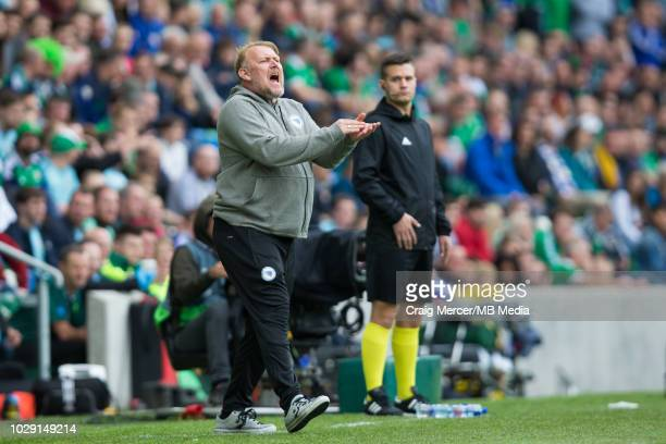 Bosnia and Herzegovina Head Coach Robert Prosinecki reacts during the UEFA Nations League B group three match between Northern Ireland and...