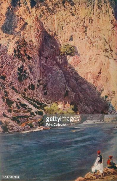 Bosnia. Incomparably beautiful is this silent pool below the majestic rocky mass of Blagaj, where the River Buna springs into being', c1920. Buna is...