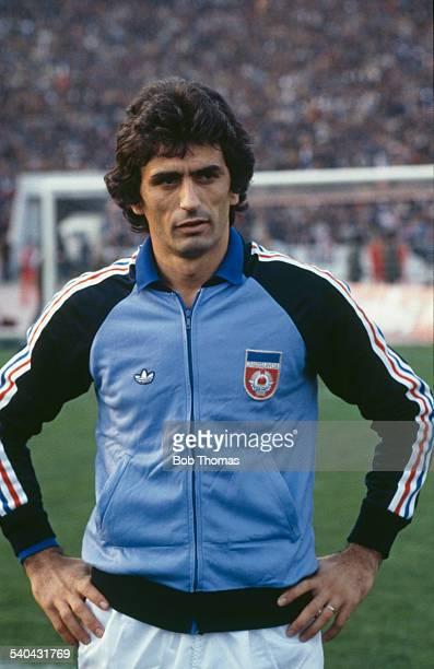 Bosnian footballer Vahid Halilhodzic of the Yugoslavian national team circa 1980