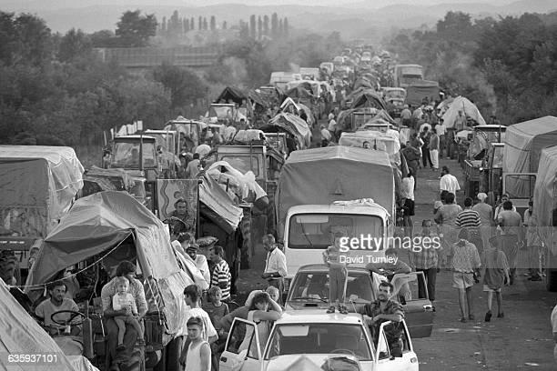Bosnian Refugees in Traffic Congestion