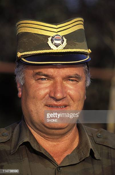 BOSNIA Bosnian Serb General Radko Mladic in 1994 Serbian police have May 26 2011 arrested Ratko Mladic who is wanted by the Hague Tribunal on...