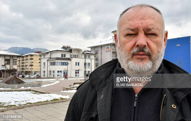 Bosnian Serb war veteran, Janko Seslija , poses in Pale, a small town in the mountains, near Sarajevo, on March 14, 2019. - During Bosnia's 1992-95...