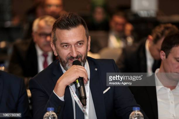Bosnia's Federal News Agency Director General Elmir Huremovic makes a speech during the 27th Association of the Balkan News Agencies Southeast Europe...
