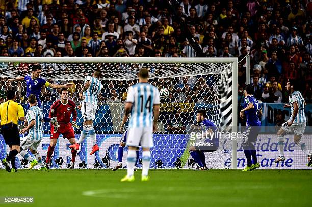 Bosnia's Sead Kolasinac scores against his own goal turining Argentina 1 0 Bosnia Herzegovina at the match of the 2014 World Cup between Argentina...