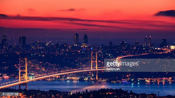 Bosphorus Bridge during the sunset, Istanbul