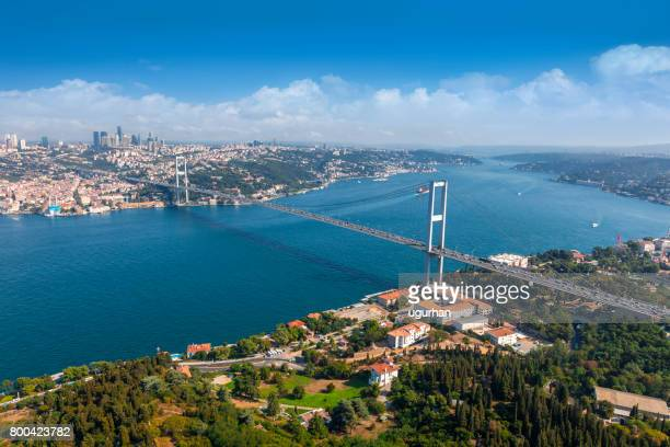 bosphorus bridge in i̇stanbul - istanbul stock photos and pictures