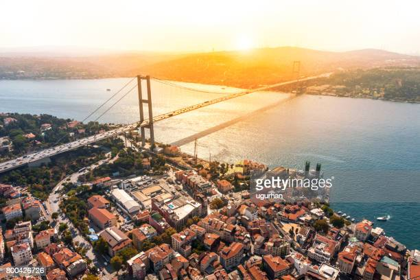 bosphorus bridge in i̇stanbul - istanbul stock pictures, royalty-free photos & images