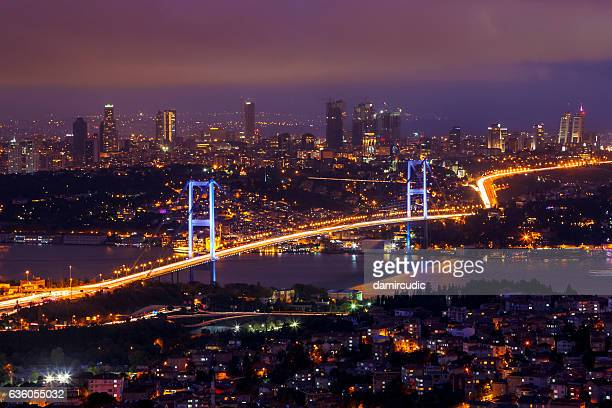 bosphorus bridge, istanbul - istanbul stock pictures, royalty-free photos & images