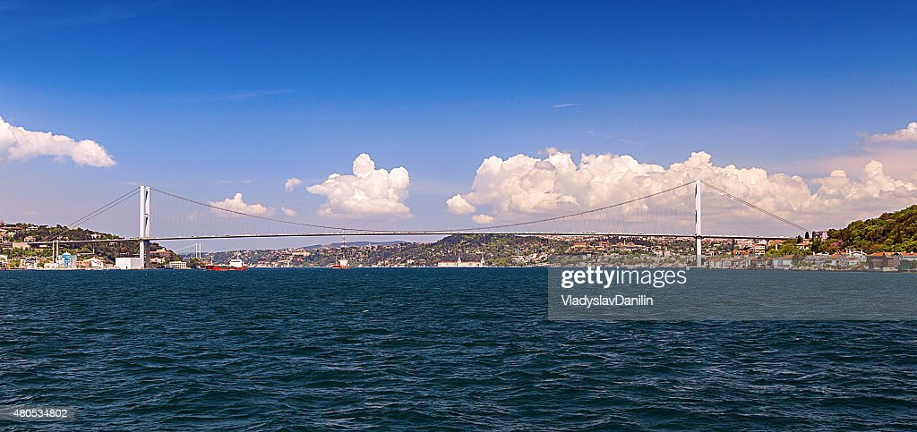 Bosphorus bridge, Istanbul, Turkey : Bildbanksbilder
