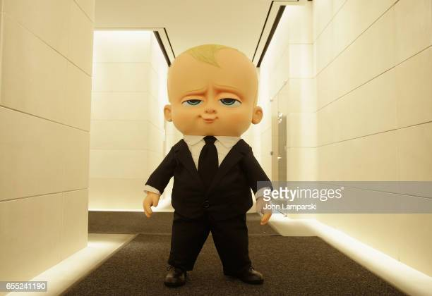 Boss Baby costume character attends Mamarazzi screening Of 'The Boss Baby' at Dolby 88 Theater on March 19 2017 in New York City