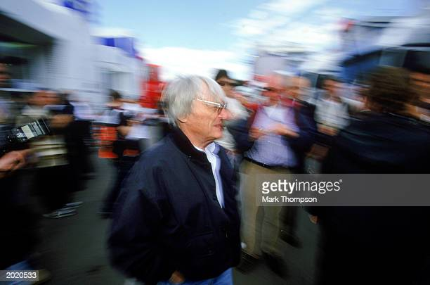Boss Bernie Ecclestone during the Austrian Formula One Grand Prix held on May 18, 2003 at the A1 Ring, in Spielberg, Austria.