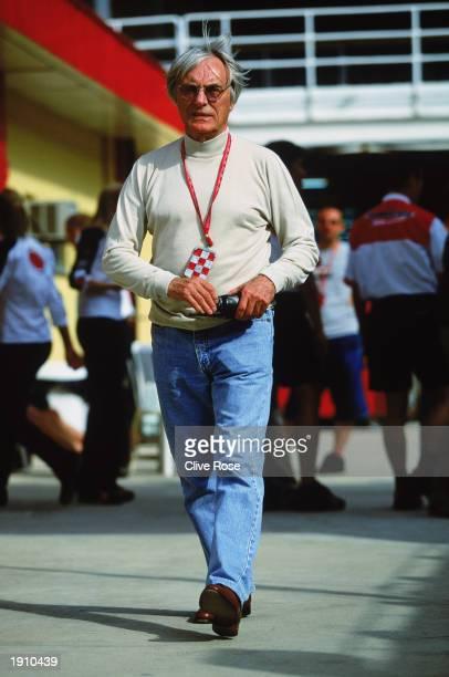 Boss Bernie Ecclestone during the Brazilian Formula One Grand Prix held on April 6, 2003 at Interlagos, in Sao Paulo, Brazil.