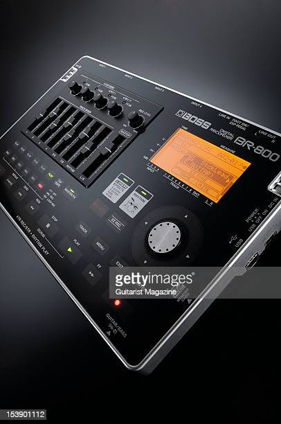 A Boss BR800 Digital Multitracker recording device during a studio shoot for Guitarist Magazine July 26 2010