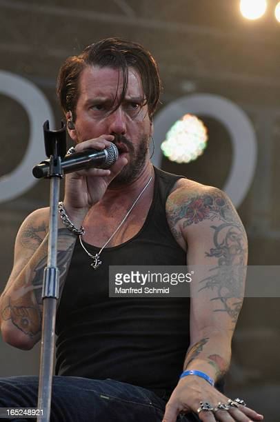 Boss Burns of BossHoss performs on stage during the Donauinselfest Wien on June 24 2012 in Vienna Austria