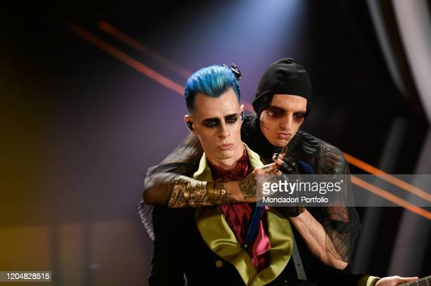 Boss Doms Achille Lauro at the fourth evening of the 70th Sanremo Music Festival on February 07 2020 in Sanremo Italy