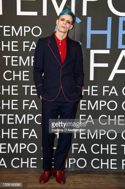 Boss Doms attends Che Tempo Che Fa TV Show on February 09 2020 in Milan Italy