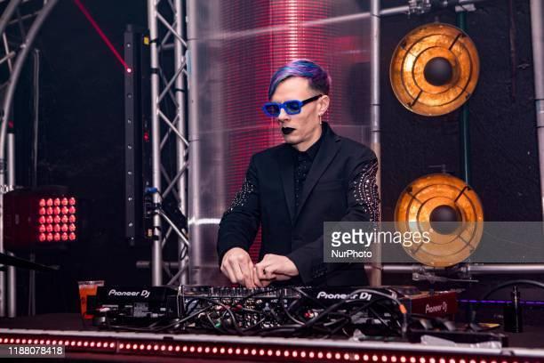 Boss Doms during the presentation of the new Nahaze's debut single 'CARILLON' at Tempio Del Futuro Perduto in Milan Italy on December 11 2019...