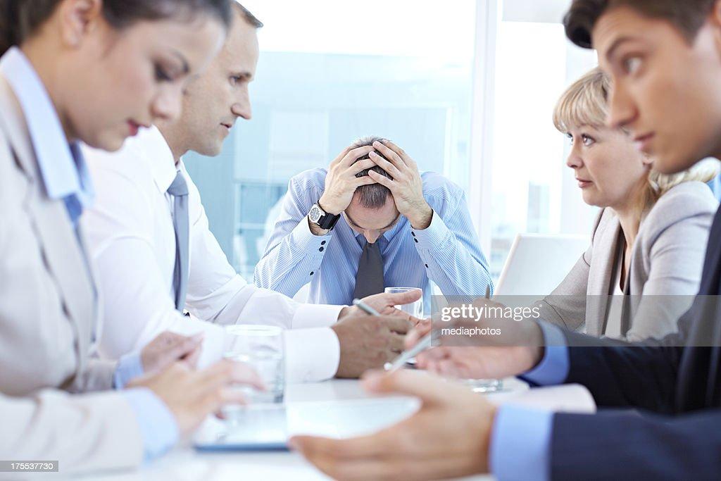 Boss in despair : Stock Photo