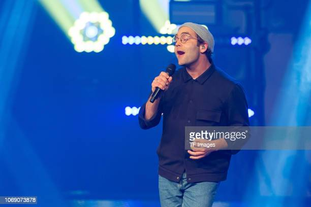 Bosse performs on stage at the 1Live Krone radio award at Jahrhunderthalle on December 6 2018 in Bochum Germany