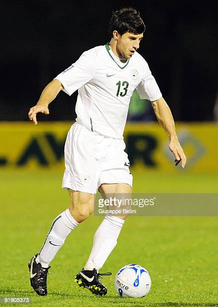Bostjan Jokic of Slovenia in action during the FIFA 2010 World Cup Group 3 Qualifying match between San Marino and Slovenia at Stadio Olimpico on...
