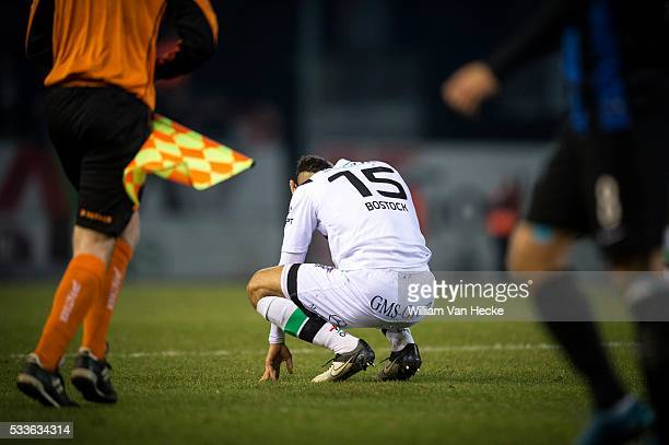 Bostock John midfielder of OHL pictured during the Jupiler Pro League match between OHL OudHeverlee Leuven and Club Brugge in Oud Heverlee Belgium