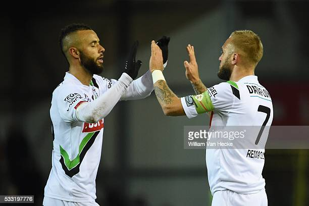 Bostock John midfielder of OHL Remacle Jordan forward of OHL during the Jupiler Pro League match between OHL OudHeverlee Leuven and KVC Westerlo in...