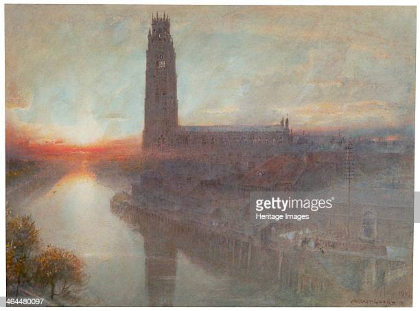 'Boston' 1907 A view of St Botolph's Church Boston Lincolnshire