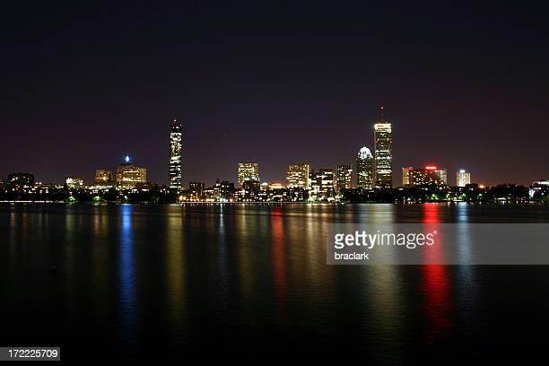 Boston At Night from Cambridge