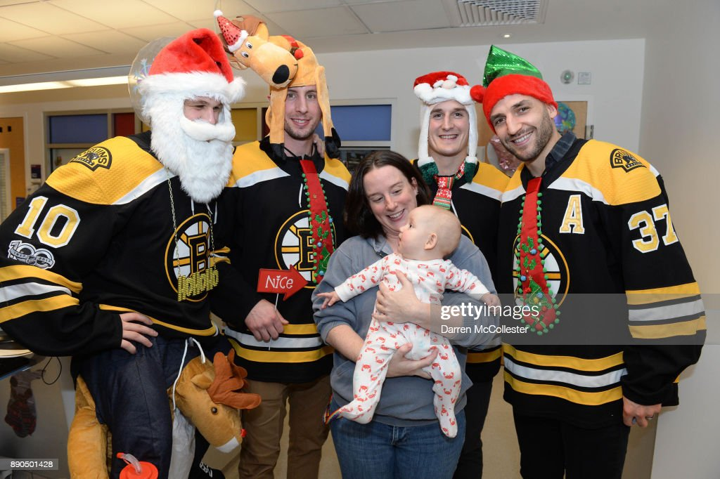 Boston Bruins Celebrate the Holidays with Boston Children's Hospital Patients : News Photo
