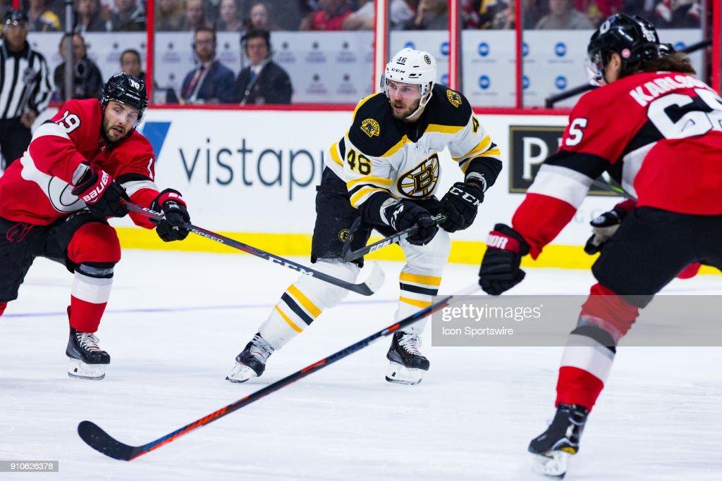 NHL: JAN 25 Bruins at Senators : News Photo
