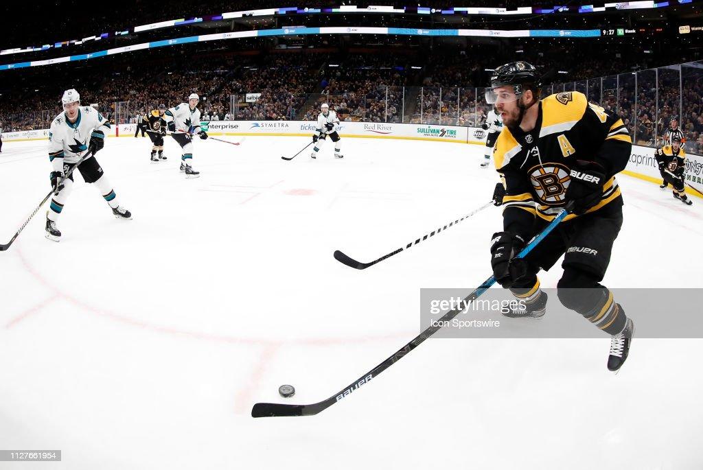 NHL: FEB 26 Sharks at Bruins : News Photo