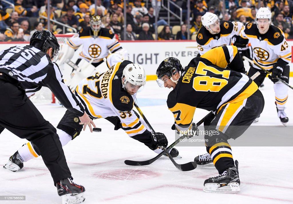 NHL: MAR 10 Bruins at Penguins : News Photo