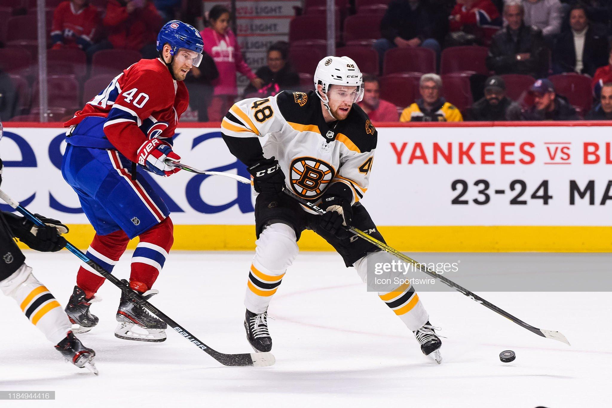NHL: NOV 26 Bruins at Canadiens : News Photo