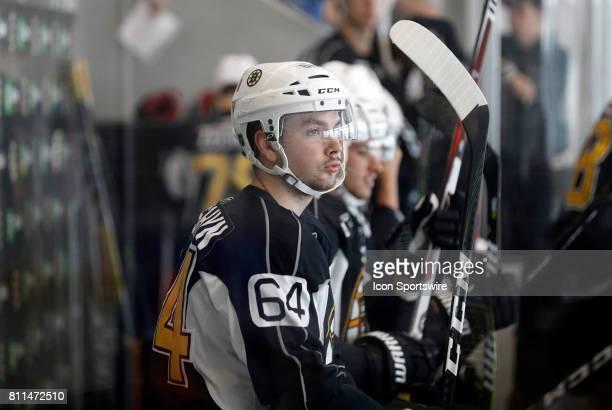 Boston Bruins forward Zach Senyshyn during Bruins Development Camp on July 8 2017 at Warrior Ice Arena in Boston Massachusetts
