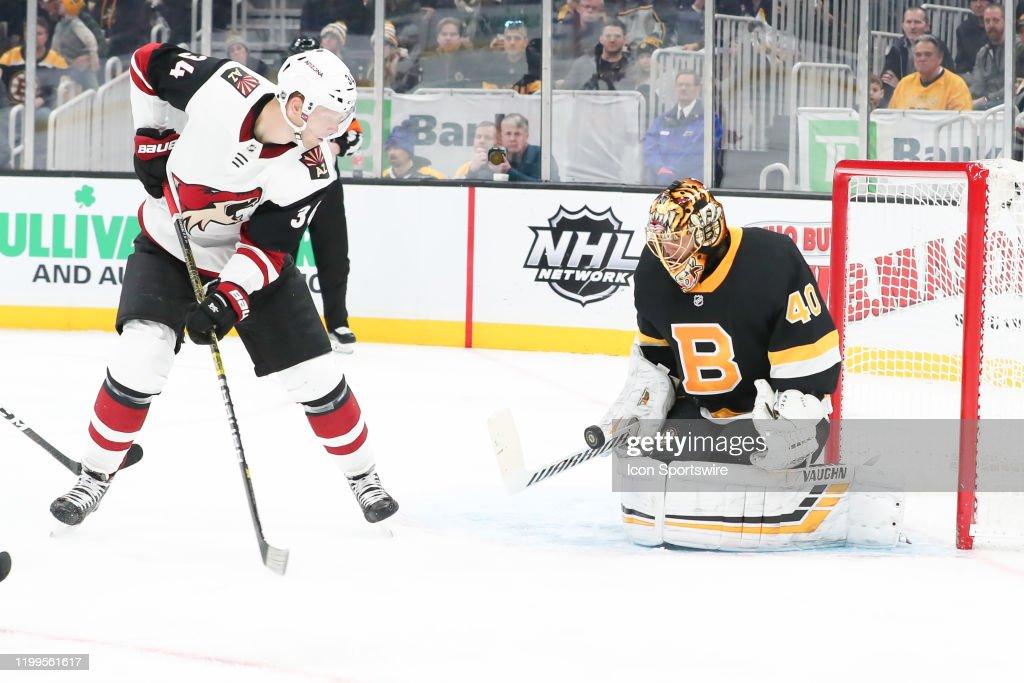 NHL: FEB 08 Coyotes at Bruins : News Photo
