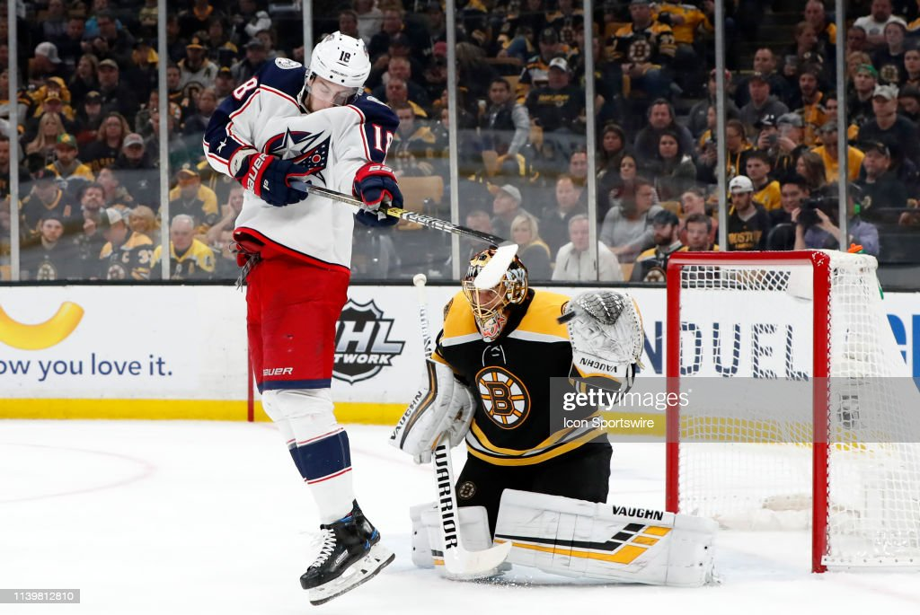 NHL: APR 27 Stanley Cup Playoffs Second Round - Blue Jackets at Bruins : News Photo