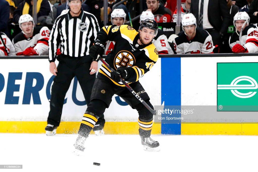 NHL: MAR 02 Devils at Bruins : News Photo